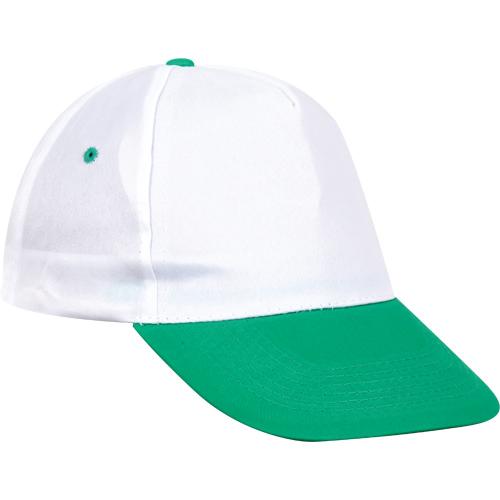0302-BY Beyaz – Yeşil Siperli Şapka