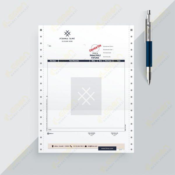 Sürekli Form 12X24 İrsaliyeli Fatura