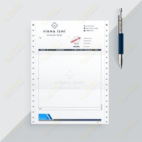 Sürekli Form 11X24 Fatura