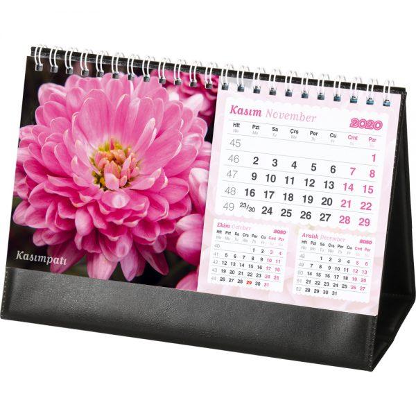 AMT-05-BS Çiçekler Masa Takvimi